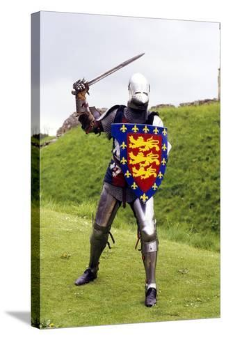 Medieval Knight in Plate Armour, Part of a Historical Re-Enactment--Stretched Canvas Print