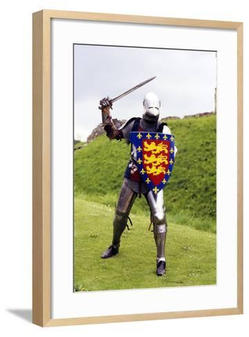 Medieval Knight in Plate Armour, Part of a Historical Re-Enactment--Framed Art Print