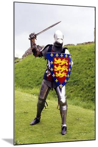Medieval Knight in Plate Armour, Part of a Historical Re-Enactment--Mounted Photographic Print