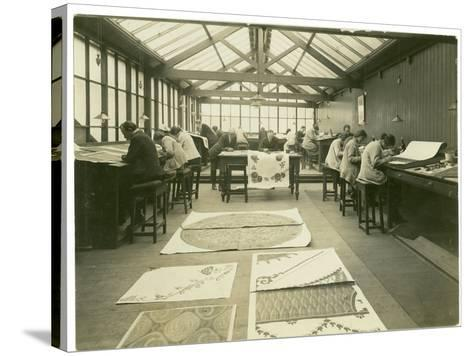 Section of the Designing Room, Carpet Trades, 1923-English Photographer-Stretched Canvas Print