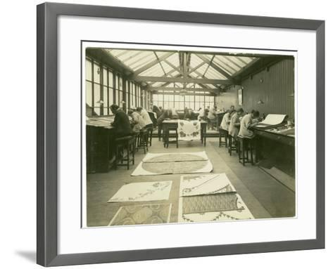 Section of the Designing Room, Carpet Trades, 1923-English Photographer-Framed Art Print