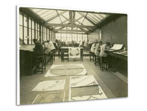 Section of the Designing Room, Carpet Trades, 1923-English Photographer-Metal Print