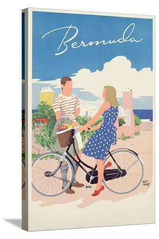 Poster Advertising Bermuda, c.1956-Adolph Treidler-Stretched Canvas Print