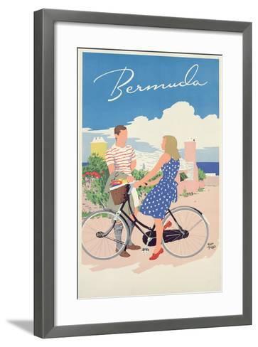 Poster Advertising Bermuda, c.1956-Adolph Treidler-Framed Art Print