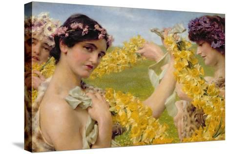 When Flowers Return, c.1911-Sir Lawrence Alma-Tadema-Stretched Canvas Print