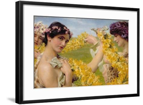 When Flowers Return, c.1911-Sir Lawrence Alma-Tadema-Framed Art Print