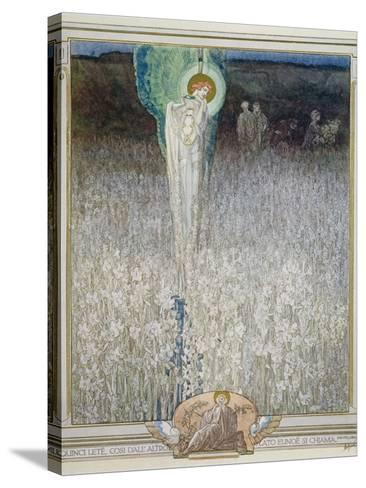 Illustration from Dante's 'Divine Comedy', Purgatory, Canto XXVIII: 130, 1921-Franz Von Bayros-Stretched Canvas Print