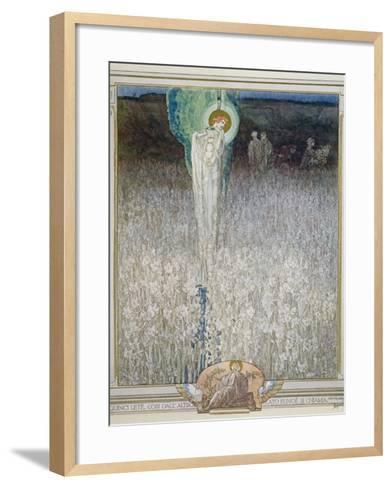 Illustration from Dante's 'Divine Comedy', Purgatory, Canto XXVIII: 130, 1921-Franz Von Bayros-Framed Art Print