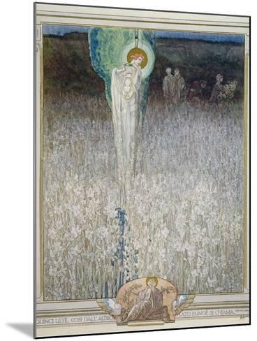 Illustration from Dante's 'Divine Comedy', Purgatory, Canto XXVIII: 130, 1921-Franz Von Bayros-Mounted Giclee Print