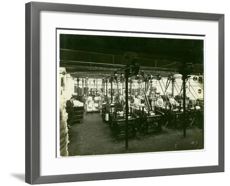 Spinning Mill in Leas, Combing Shed, 1923-English Photographer-Framed Art Print
