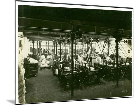 Spinning Mill in Leas, Combing Shed, 1923-English Photographer-Mounted Photographic Print