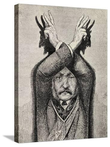 Devil Worship, from 'The Freemason', by Eugen Lennhoff, Published 1932--Stretched Canvas Print