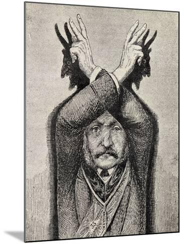 Devil Worship, from 'The Freemason', by Eugen Lennhoff, Published 1932--Mounted Giclee Print