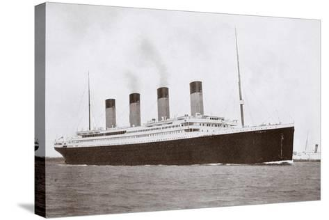 RMS Titanic of the White Star Line-English Photographer-Stretched Canvas Print
