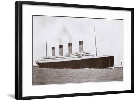 RMS Titanic of the White Star Line-English Photographer-Framed Art Print
