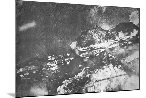 U.S. Warships on Battleship Row, Pearl Harbor, 7th December, 1941-Japanese Photographer-Mounted Photographic Print