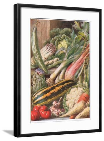 Garden Vegetables, Illustration from 'Garden Ways and Garden Days'-Louis Fairfax Muckley-Framed Art Print