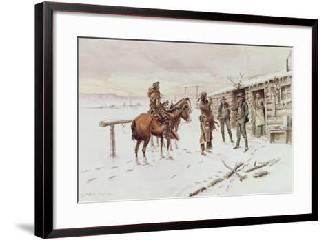 Indian Trading Post-Charles Marion Russell-Framed Art Print