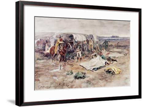 Calling the Horses-Charles Marion Russell-Framed Art Print