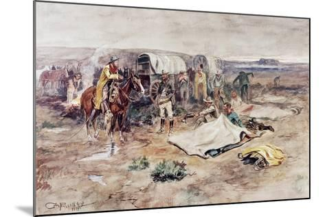 Calling the Horses-Charles Marion Russell-Mounted Giclee Print