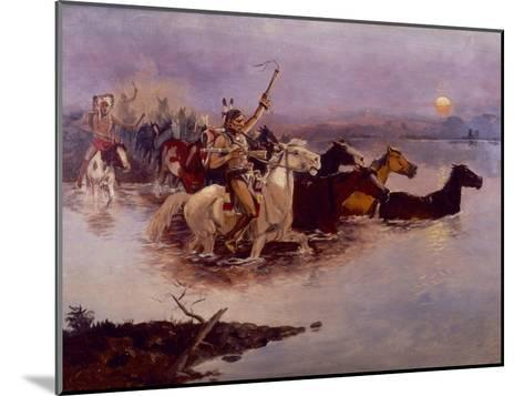 Crossing the River Charles-Charles Marion Russell-Mounted Giclee Print