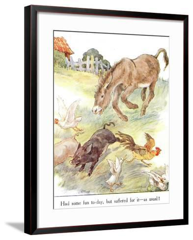 'Had Some Fun To-Day, But Suffered for it - as Usual!', Illustration from 'The Naughty Neddy…-Anne Anderson-Framed Art Print