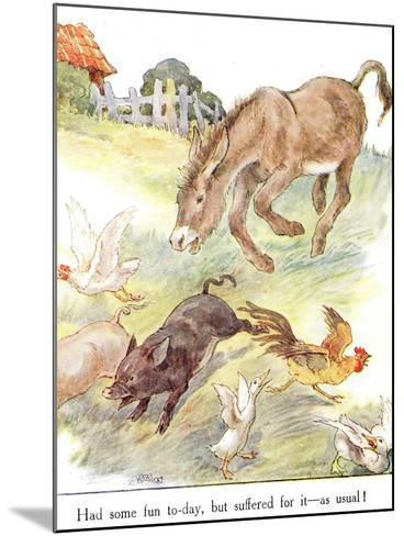 'Had Some Fun To-Day, But Suffered for it - as Usual!', Illustration from 'The Naughty Neddy…-Anne Anderson-Mounted Giclee Print