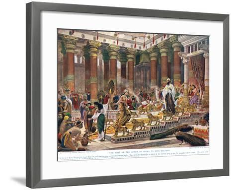 The Visit of the Queen of Sheba to King Solomon, Illustration from 'Hutchinson's History of the…-Edward John Poynter-Framed Art Print
