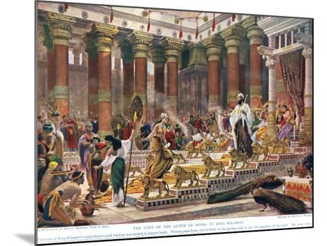 The Visit of the Queen of Sheba to King Solomon, Illustration from 'Hutchinson's History of the…-Edward John Poynter-Mounted Giclee Print