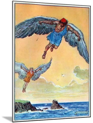 Daedalus and Icarus, from 'The Children's Hour: Stories from the Classics', Published by Waverley…-Charles Edmund Brock-Mounted Giclee Print