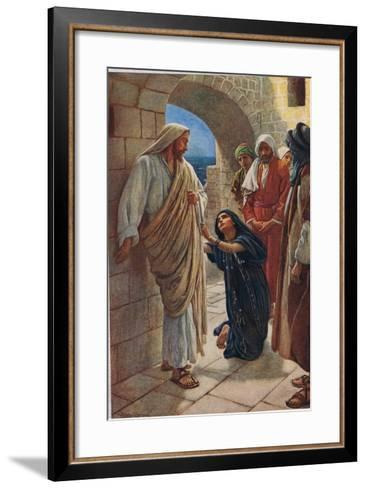 The Woman of Canaan, Illustration from 'Women of the Bible', Published by the Religious Tract…-Harold Copping-Framed Art Print