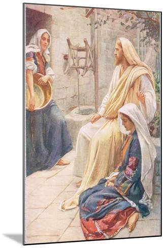 Martha and Mary, Illustration from 'Women of the Bible', Published by the R-Harold Copping-Mounted Giclee Print