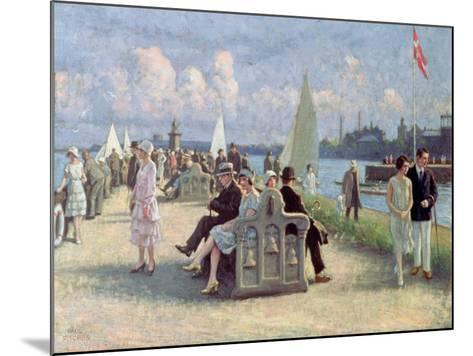 People on a Promenade-Paul Fischer-Mounted Giclee Print