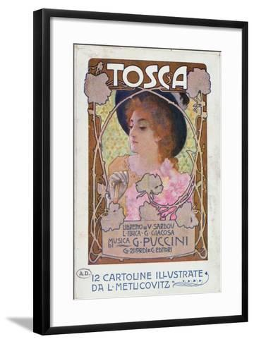 Title Page of Score Sheet for the Opera Tosca by Puccini, c.1910-Italian School-Framed Art Print