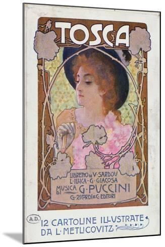 Title Page of Score Sheet for the Opera Tosca by Puccini, c.1910-Italian School-Mounted Giclee Print