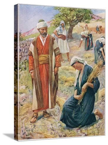 Ruth, Illustration from 'Women of the Bible', Published by the Religious Tract Society, 1927-Harold Copping-Stretched Canvas Print