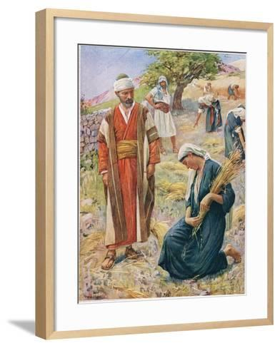 Ruth, Illustration from 'Women of the Bible', Published by the Religious Tract Society, 1927-Harold Copping-Framed Art Print