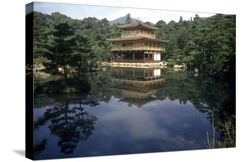 View of the Temple-Japanese School-Stretched Canvas Print