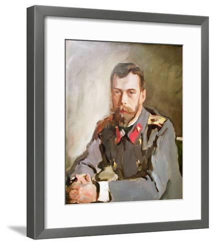 Portrait of Emperor Nicholas II, 1900-Valentin Aleksandrovich Serov-Framed Art Print
