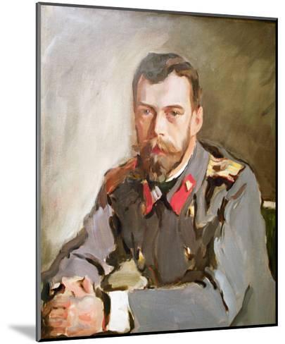 Portrait of Emperor Nicholas II, 1900-Valentin Aleksandrovich Serov-Mounted Giclee Print