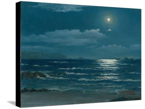 Full Moon, Pichilemu, Chile, 1958-Horacio G. Garcia-Stretched Canvas Print