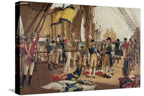 Nelson's Last Signal at Trafalgar-Thomas Davidson-Stretched Canvas Print