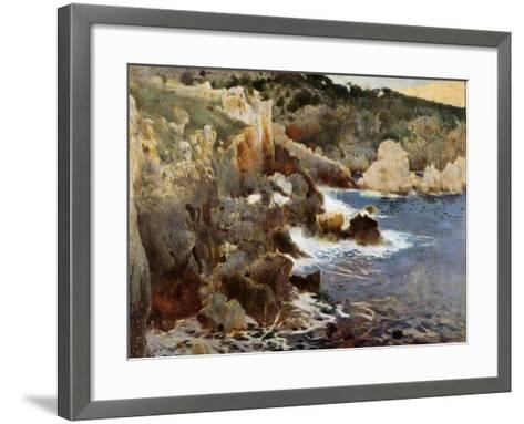 Enchanted Cove, Majorca, c.1901-Joaquin Mir Trinxet-Framed Art Print