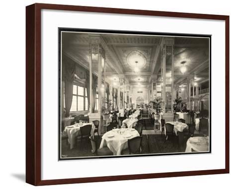 A Dining Room at the Robert Treat Hotel, Newark, New Jersey, 1916-Byron Company-Framed Art Print