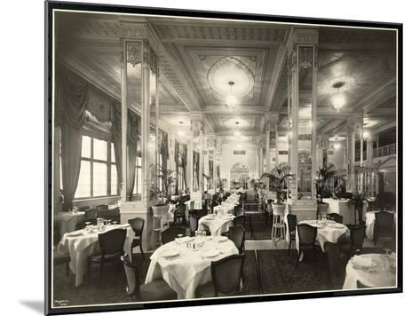A Dining Room at the Robert Treat Hotel, Newark, New Jersey, 1916-Byron Company-Mounted Giclee Print