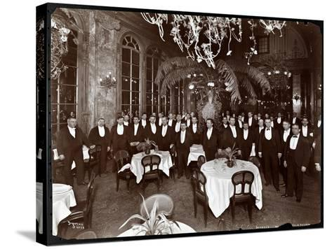 Waiters in the Palm Court at Sherry's Restaurant, New York, 1902-Byron Company-Stretched Canvas Print