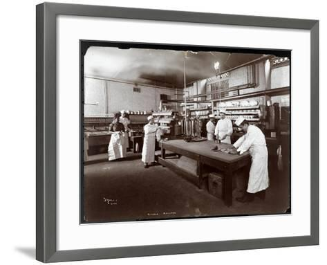 Cooks Working in the Kitchen at Maillard's Chocolate Manufacturers, 116-118 West 25th Street, New…-Byron Company-Framed Art Print