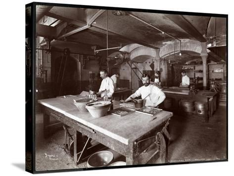 Cooks Working in the Kitchen at Maillard's Chocolate Manufacturers, 116-118 West 25th Street, New…-Byron Company-Stretched Canvas Print