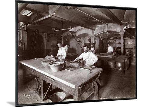Cooks Working in the Kitchen at Maillard's Chocolate Manufacturers, 116-118 West 25th Street, New…-Byron Company-Mounted Giclee Print