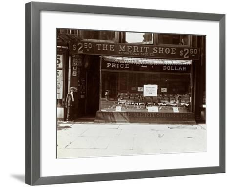 A Storefront of the International Shoe Co., New York, 1905-Byron Company-Framed Art Print